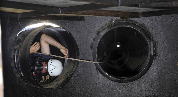 Fightertown firefighters conduct confined space training